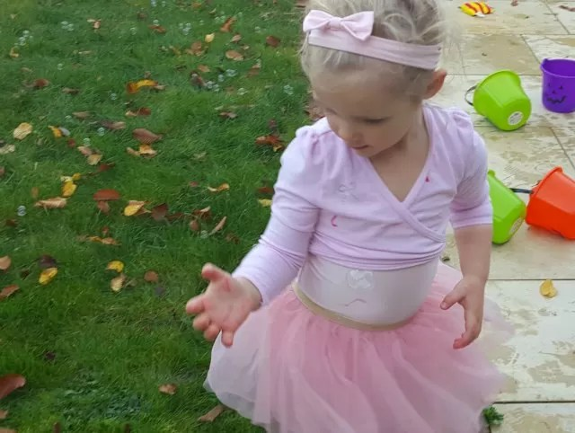 ballerina with bubbles