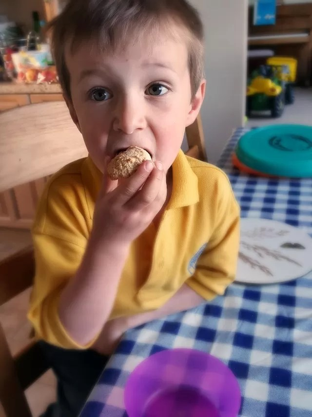 enjoying golden ginger macaroons
