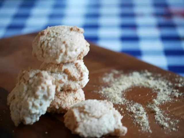 ginger ingredients with ginger macaroon biscuits