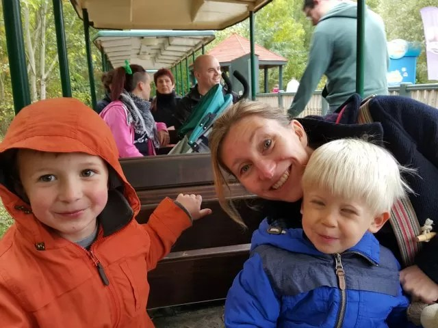 riding on the Conkers train