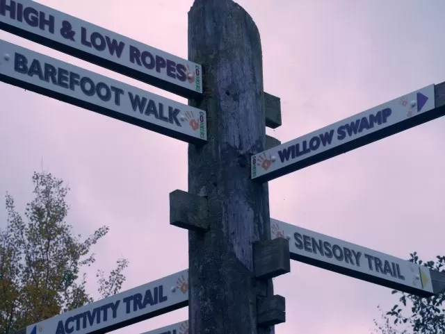 signposts at Conkers