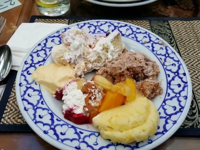 Thai buffet desserts