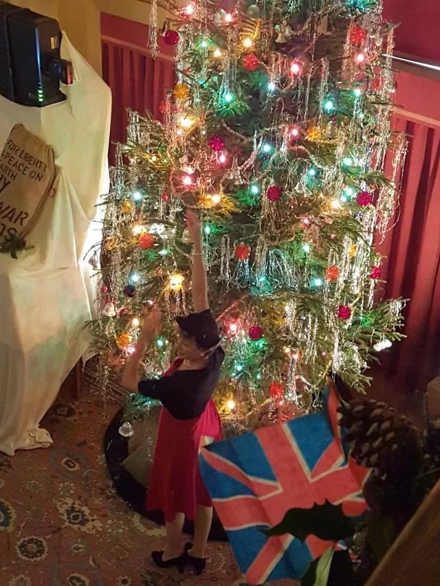 1940s upton house Christmas tree