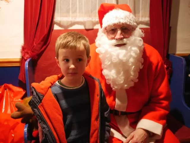 Meeting Father Christmas at GWR railway