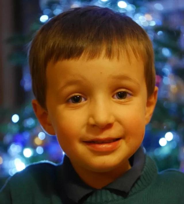 Christmas day portrait