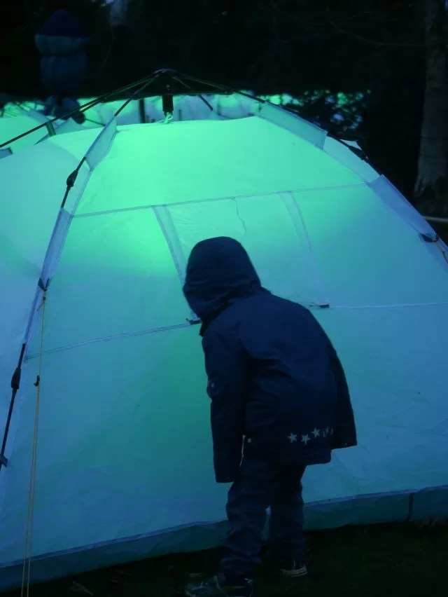 checking out the tents
