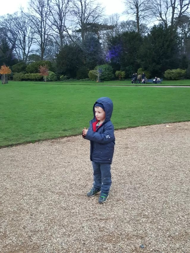 chilly day out at waddesdon