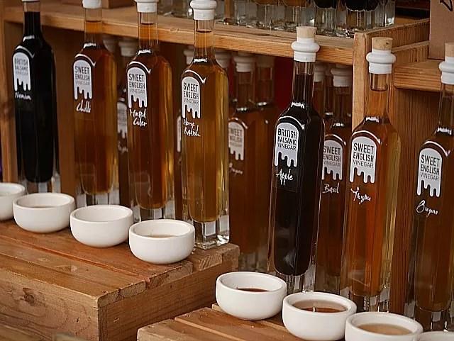 flavoured oils at Waddesdon Manor Christmas market