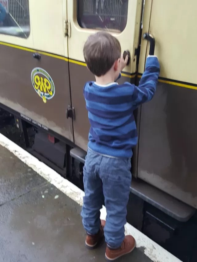 getting on the steam train