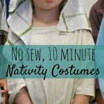 No sew nativity costume – make in 10 minutes