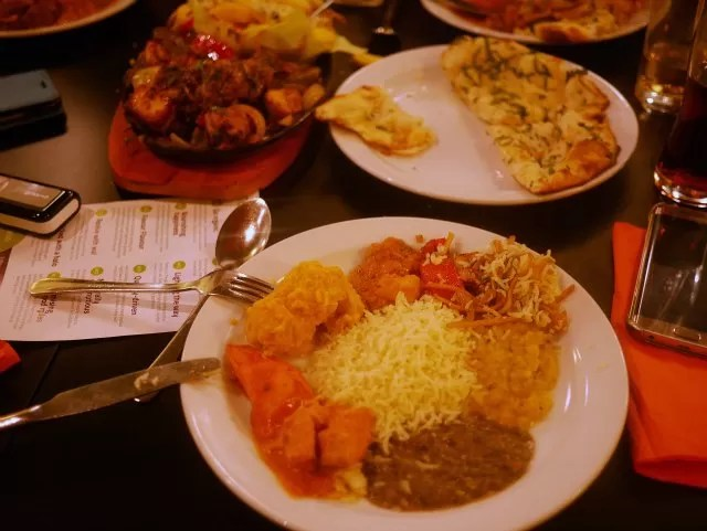 plate of curry choices