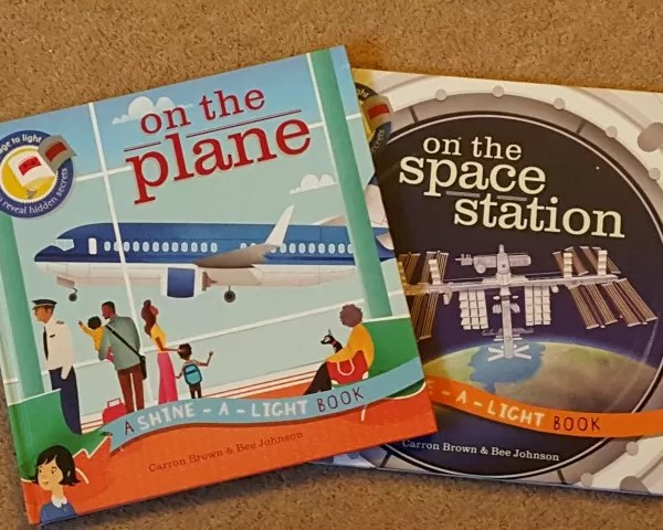 Discovering spaces and planes with Shine-a-light books – giveaway
