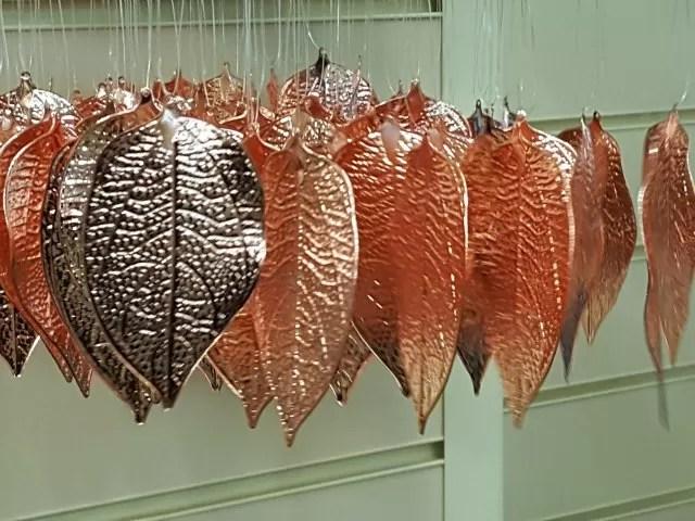 bronze christmas decoration leaves