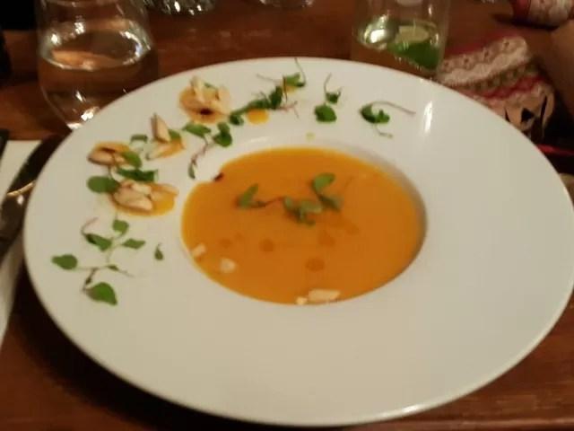butternut squash soup at the castle