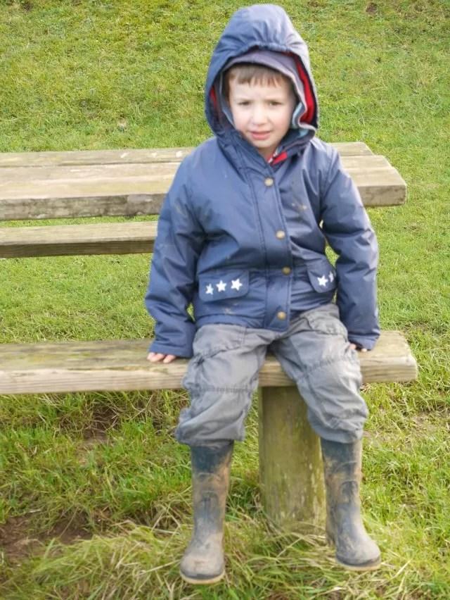 picnic bench seat at Burton Dassett