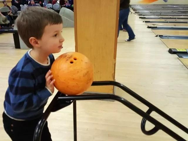 using the ten pin bowling ramp