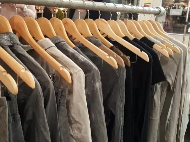 Olivia May rail of clothes