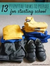 13 tasks get ready for school