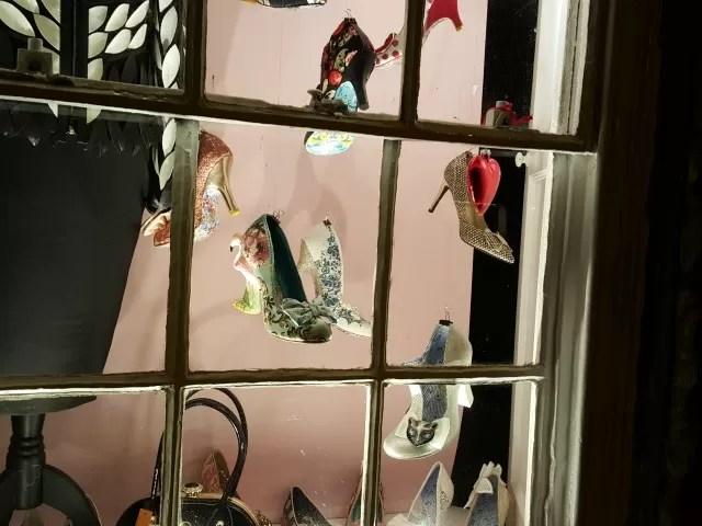 irregular choice shoe window display
