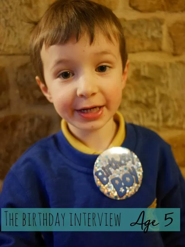 The birthday interview at age 5 - Bubbablue and me