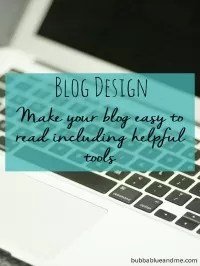 blog design easy to read