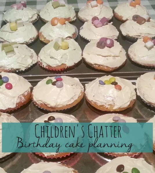 childrens chatter birthday cake planning Bubbablue and me
