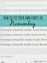 get your own fonts in picmonkey