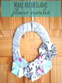 make a pretty origami flower notelet