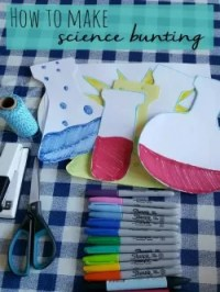 science party and make science bunting