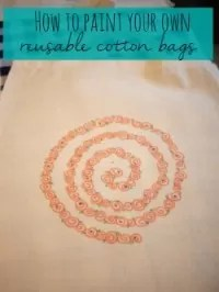 paint a reusable bag=