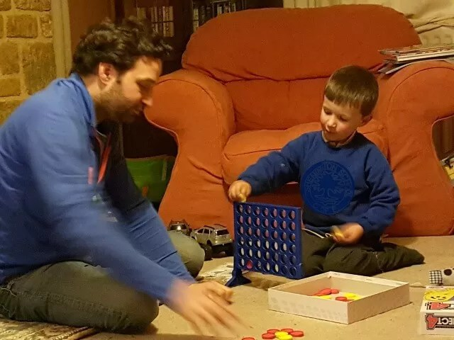 playing Connect four