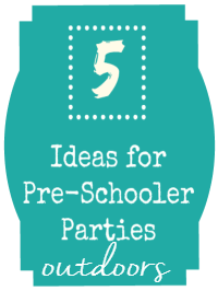 preschool outdoor party ideas