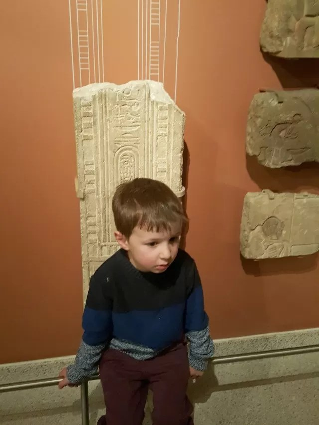 relaxing in the Egyptian rooms in Ashmolean