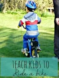 teach kids to ride a bike