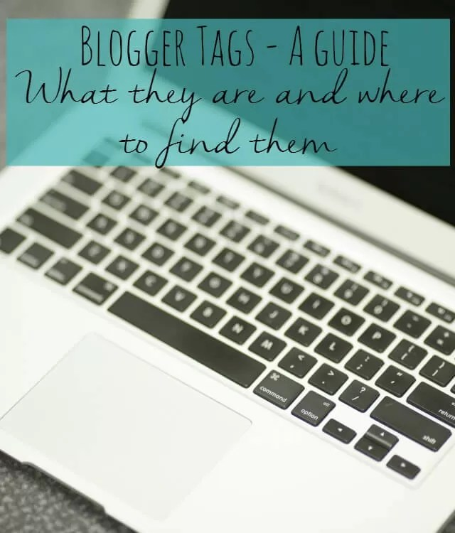 A guide to blogger tags - what they are and where to find them | Bubbablue and me