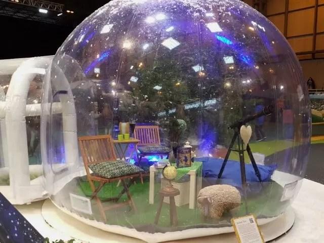 stargazing bubble tent