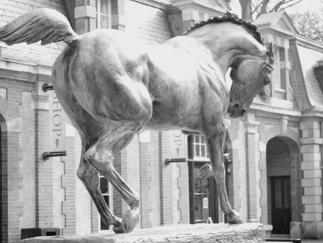 horse statue at Waddesdon Manor