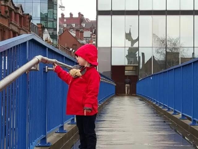 over the Livery Street bridge in Birmingham