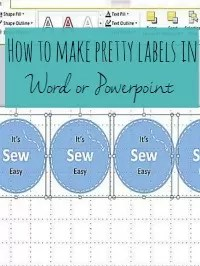 pretty labels in word