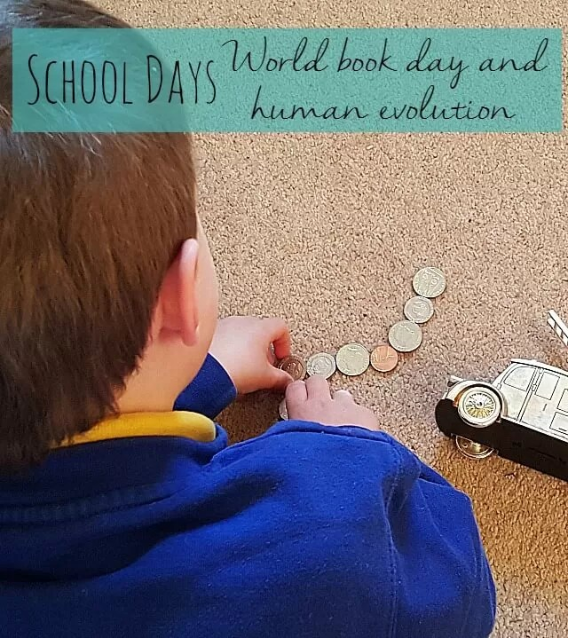 school days - world book day and human evolution - Bubbablue and me