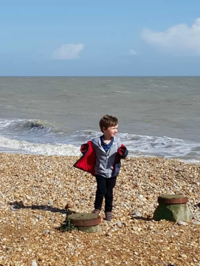 blowy on the beach at Eastbourne