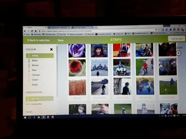 creating Cheerz photo strips