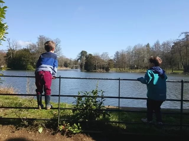 looking at the lake in Stowe Gardens