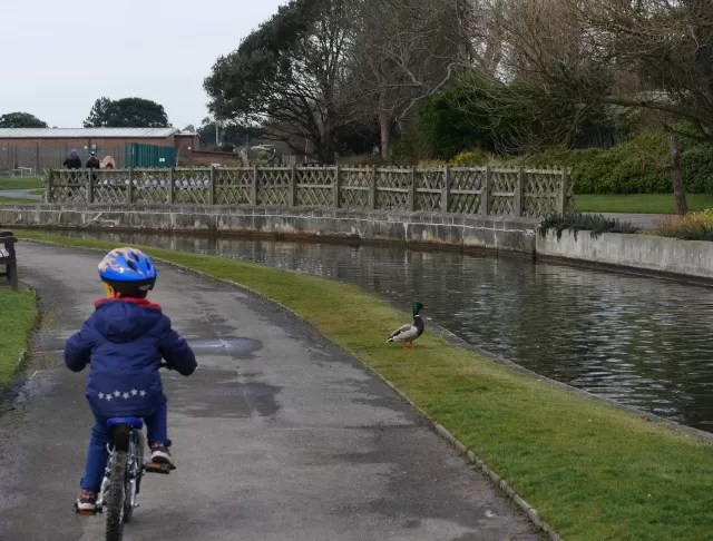 riding alongside the river in Bexhill