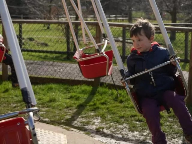 swings ride at Knockhatch adventure park