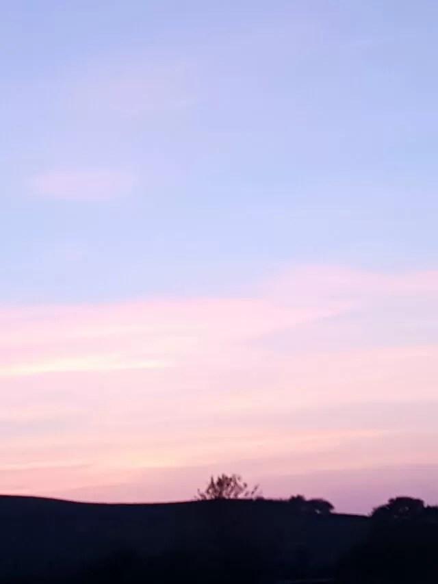 Pastel sky sunset
