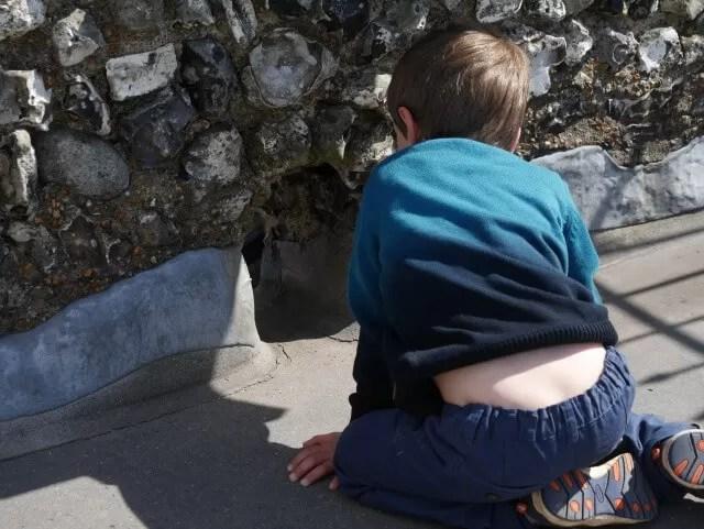 Drainage holes at Lewes castle