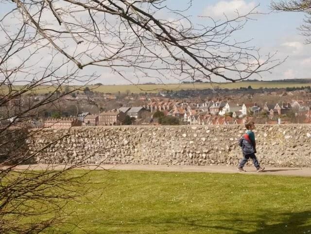 Lewes Castle garden level