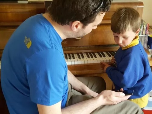 Music exploration - playing a piano tuning app game