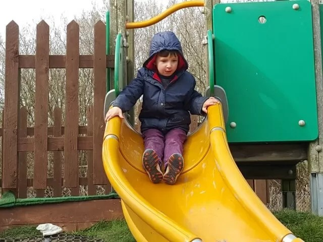 down the slide at Eastbourne railway